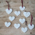 Porcelain Heart Decoration. Perfect for personalising your gift