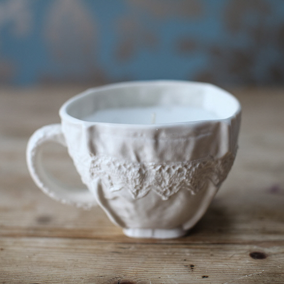 Lace candle cup